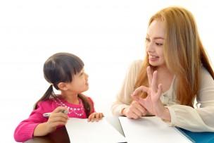 英会話教室に通う女の子